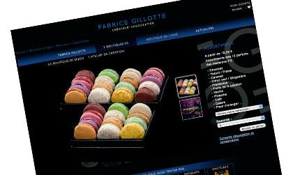 Nouveau site Web pour le chocolatier Fabrice Gillotte