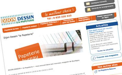 Dijon-Dessin: un site Web pour le nouveau magasin