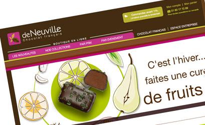 Chocolat de Neuville: i-com signe le nouveau web design du site