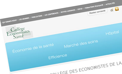 Collège des économistes de la santé: refonte du site Internet