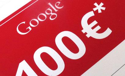 100€ offerts pour débuter l'aventure Google Adwords!