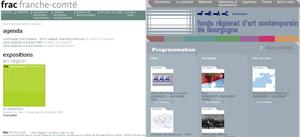 Création sites Internet FRAC Bourgogne et FRAC Franche-Comté