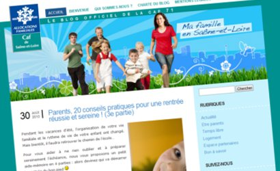 Un blog pour la CAF de Saône-et-Loire