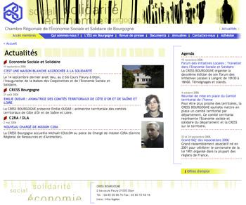 site internet de la CRESS Bourgogne