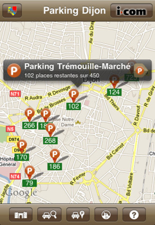 Parking Dijon apps