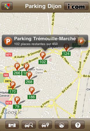 Parking Dijon apps
