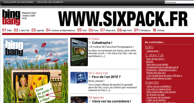 Création du site Internet Bing Bang Magazine