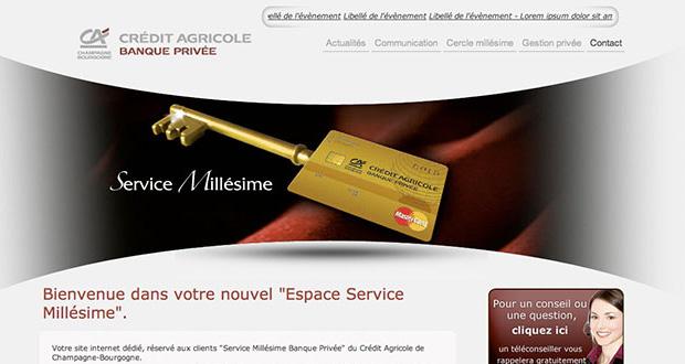 Espace Millésime : un site Web