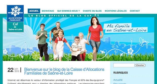 blog pour la CAF de Saône-et-Loire