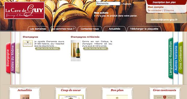 boutique de vente de vin en ligne, la Cave de Guy