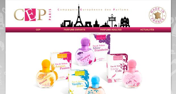 Compagnie Européenne des Parfums site Web