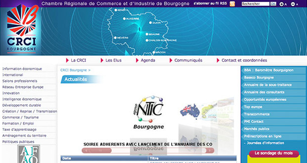 Site Internet CRCI Bourgogne