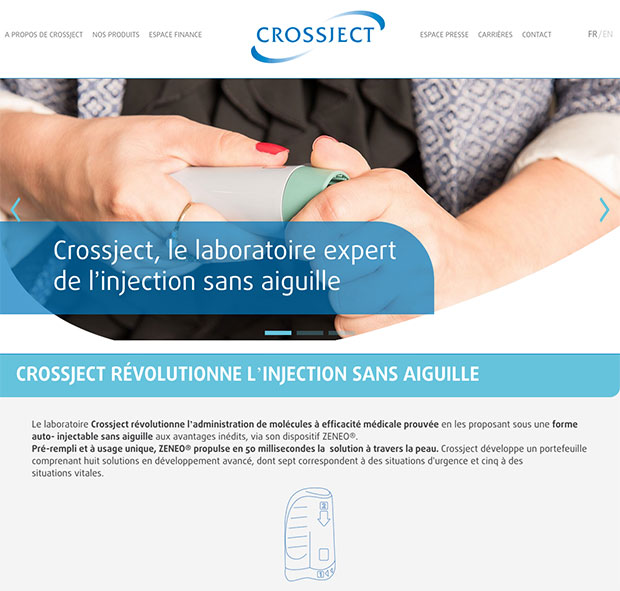 accueil internet crossject