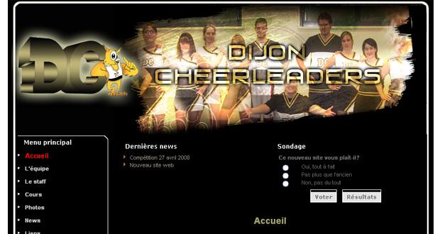 Création du site Internet : le Dijon Cheerleaders