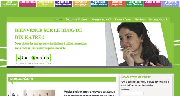 page accueil site dix katre