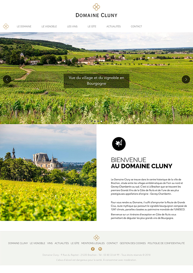 accueil internet domaine cluny