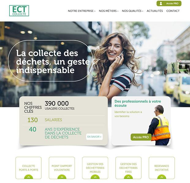 accueil site internet ect collecte