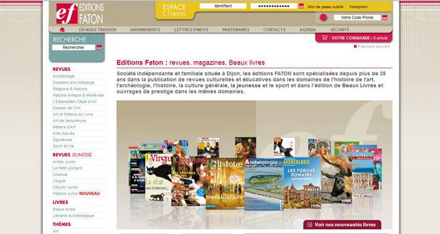 site des Éditions Faton