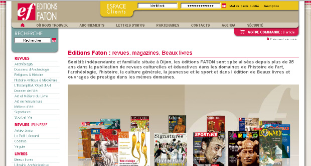 17 sites pour les Éditions Faton