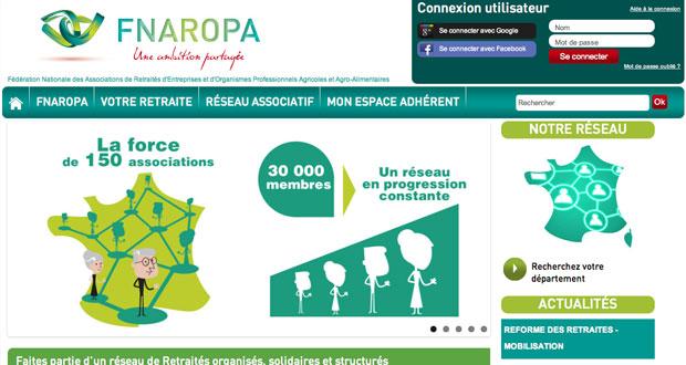 Accueil site Internet FNAROPA