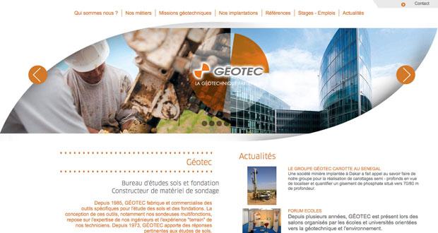 site internet geotec