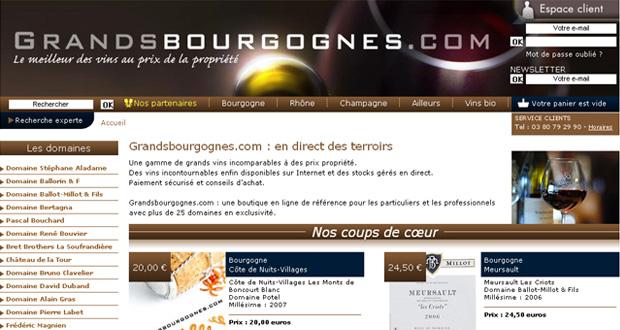 Grands Bourgognes e-commerce