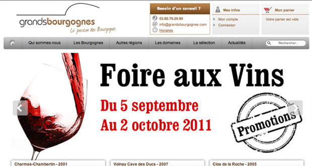 refonte du site Grands Bourgognes