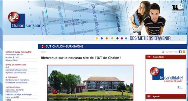 Page d'accueil site Internet IUT Chalon-sur_Saône