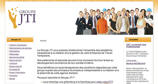 site Internet du Groupe JTI
