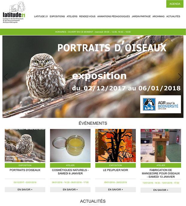 accueil site internet latitude21