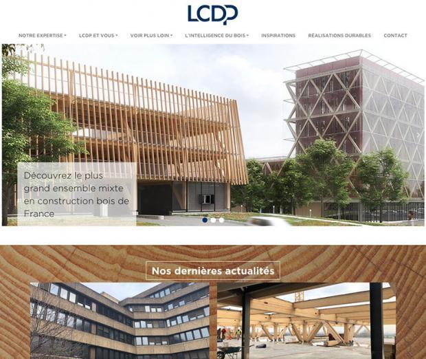 LCDP capture d'écran du site internet