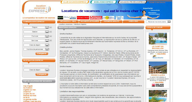 Site de Location Vacances Express