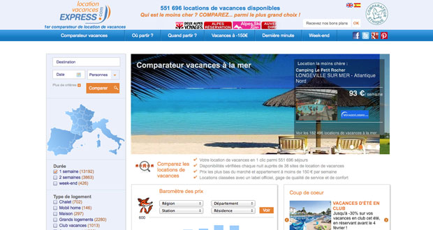 Site Internet Location Vacances Express