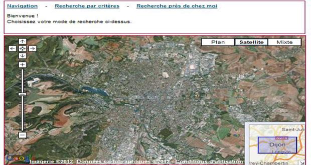 Mashup Google Maps : Le Grand Dijon