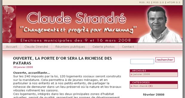 Site pour les municipales de Marsannay