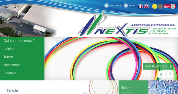 Accueil site e-commerce Nextis