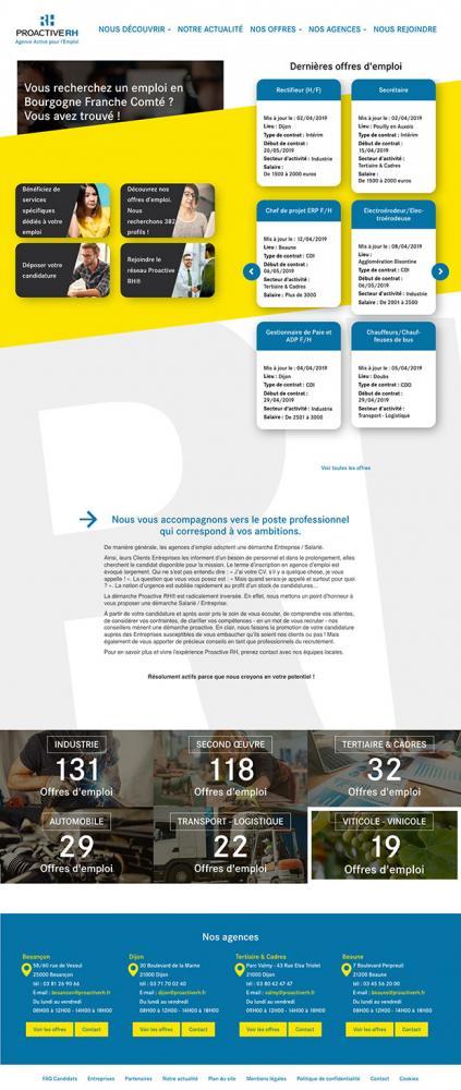 accueil site Internet proactive rh