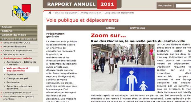 Rapport annuel ville de Dijon 2011