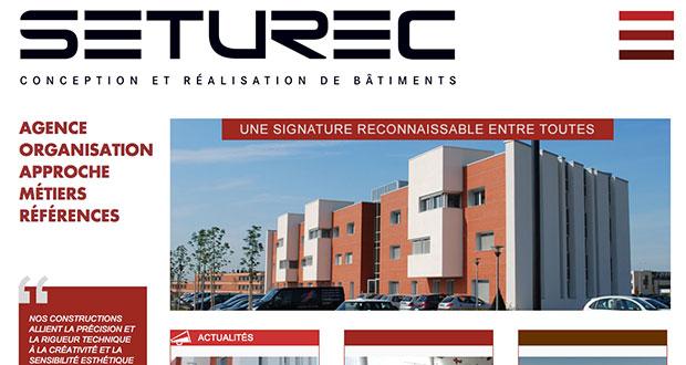 Accueil site Internet Seturec