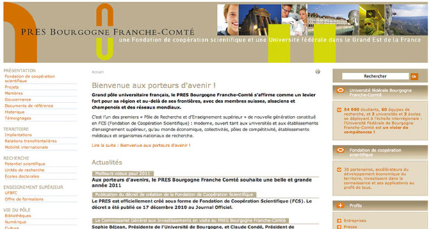 Les sites Internet de l'Université de Bourgogne