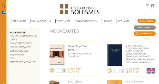 boutique abbaye solesmes