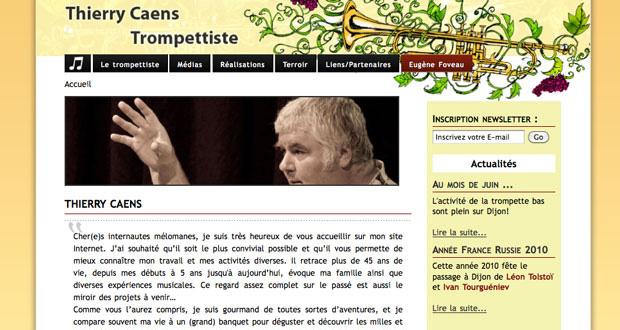 site Internet de Thierry Caens