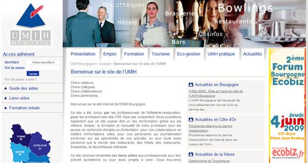 site UMIH Bourgogne