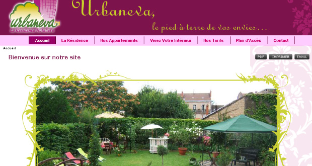 Urbaneva site web