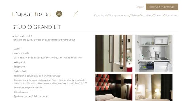 site internet aparthotel dijon
