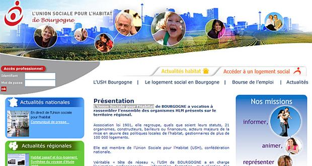 Mise en ligne du site Internet de l'Union Sociale pour l'Habitat de Bourgogne