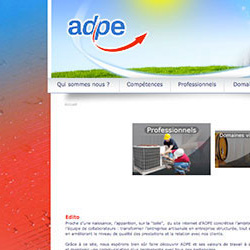 Création de site internet pour ADPE