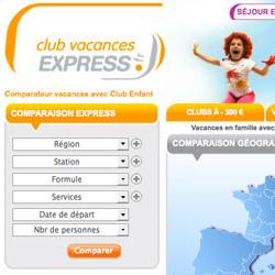 Mise en ligne du site de Club Vacances Express
