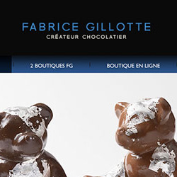 site Web pour le chocolatier Fabrice Gillotte