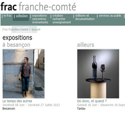 site Internet du FRAC Franche-Comté